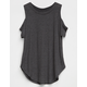 BOZZOLO Cold Shoulder Girls Top