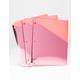 3 Pack Metallic Rose Binder Folders