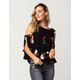 OTHERS FOLLOW Rose Womens Cold Shoulder Top