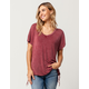 MIMI CHICA Grommet Lace Up Womens Tee