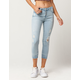 ALMOST FAMOUS Button Front Womens Ankle Jeans