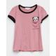 IVY + MAIN Panda Pocket Girls Ringer Tee