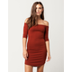 SAY WHAT? Ribbed Off The Shoulder Bodycon Dress