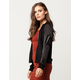 IVY + MAIN Satin Suede Womens Bomber Jacket