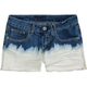 HIPPIE LAUNDRY Dip Dye Girls Cutoff Denim Shorts