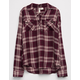 SKY AND SPARROW Rayon Lace Up Girls Plaid Shirt