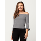 IVY + MAIN Bell Sleeve Womens Off The Shoulder Top