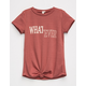 SKY AND SPARROW Whatever Knot Front Girls Tee