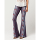 PATRONS OF PEACE Floral Medallion Womens Flare Pants