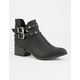 QUPID Studded Buckle Womens Booties