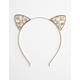 FULL TILT Jeweled Cat Ear Headband