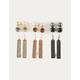 FULL TILT 9 Pairs Rhinestone Bar Earrings