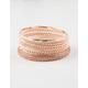 FULL TILT 10 Pack Mixed Bling Bangle Bracelets
