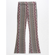 SKY AND SPARROW Tile Floral Girls Flare Pants