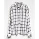SKY AND SPARROW Rayon Girls Babydoll Plaid Shirt