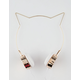 Gold Cat Ear Headphones