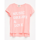 PPLA Music Dreams Love Girls Tee