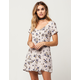 SOCIALITE Wildflower Button Front Dress