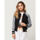 FULL TILT Mixed Nylon Womens Varsity Bomber Jacket