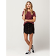 IVY + MAIN Suede Scallop Skirt