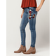 INDIGO REIN Embroidered Floral Womens Skinny Jeans