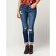SP BLACK LABEL Ripped Roll Cuff Womens Skinny Jeans