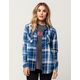 SKY AND SPARROW Washed Womens Plaid Shirt