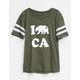 SKY AND SPARROW Cali Bear Girls Varsity Tee