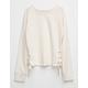IVY & MAIN Side Lace Up Girls Sweatshirt