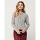 SKY AND SPARROW Lace Up Womens Sweatshirt