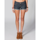 RSQ Raw Edge Cuff Womens Denim Shorts