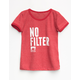 POOLHOUSE No Filter Girls Ringer Tee