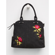 VIOLET RAY Logan Embroidered Satchel Bag