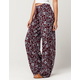 IVY & MAIN Floral Womens Wide Leg Pants
