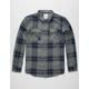 BIRCH BLACK Blue Jay Mens Flannel Shirt