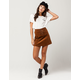 SKY AND SPARROW Lace Up Corduroy Skirt