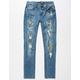 RSQ Tokyo Camo Ripped Super Skinny Stretch Boys Jeans