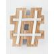 Wood LED Hashtag Light