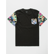 ASPHALT Big Floral Boys Pocket Tee