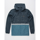 VISSLA Dredges Mens Navy Windbreaker Jacket