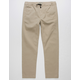 CHARLES AND A HALF Boys Twill Jogger Pants