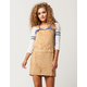 Chase The Sun Faux Suede Overall Dress