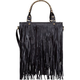 Fringe Front Faux Leather Tote