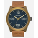 NIXON Corporal Brass & Brown Watch