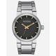 NIXON Cannon Black & Silver Watch