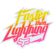 FOX Faster Than Lightning Sticker