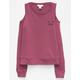 IVY & MAIN Panda Girls Cold Shoulder Sweatshirt
