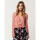 ELODIE Lace Up Bell Sleeve Womens Top