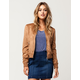SKY AND SPARROW Faux Suede Womens Bomber Jacket