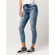 VANILLA STAR Premium Acid Wash Womens Ankle Jeans